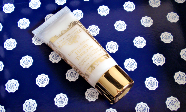 Glossybox - June 2014 - Camille Beckman Platinumé Gold Imperial Repair Hand Therapy