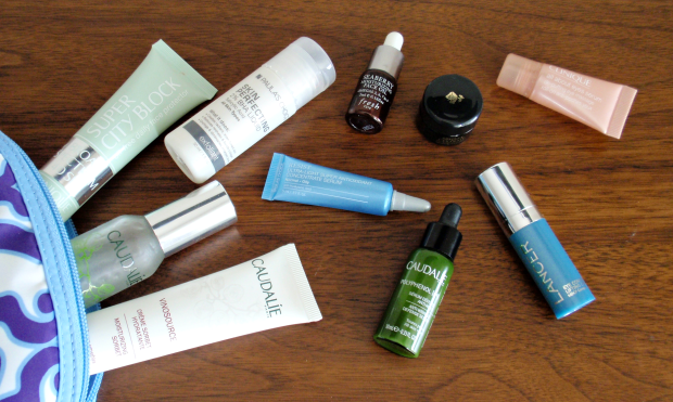 What's in my skin care travel bag?