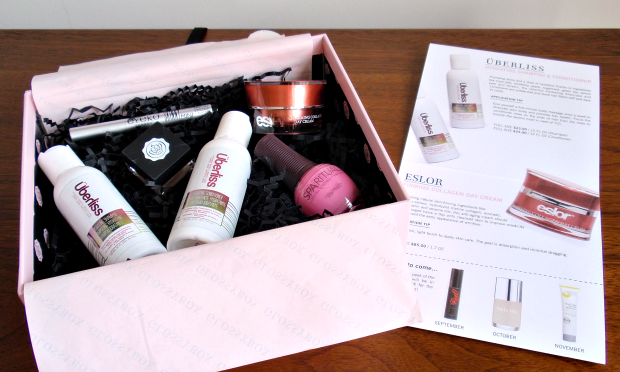 Glossybox - August 2014 - contents