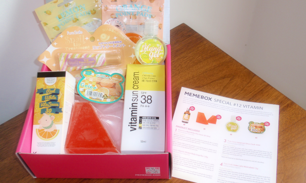 Memebox Special #12 Vitamin Care - contents